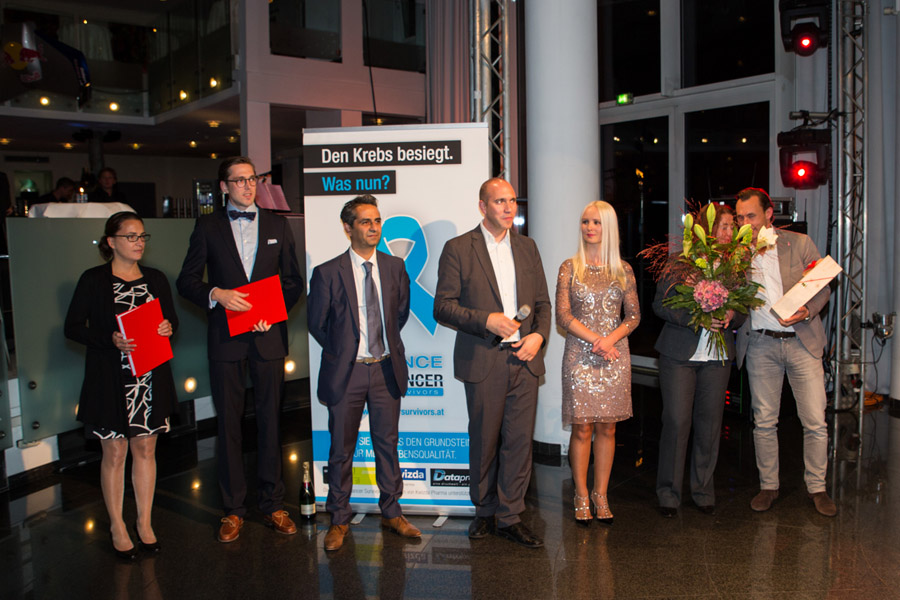 Verleihung ACO-ASSO Fellowship 2014 an Herrn Dr. Matthias Paireder (zweiter von links)
