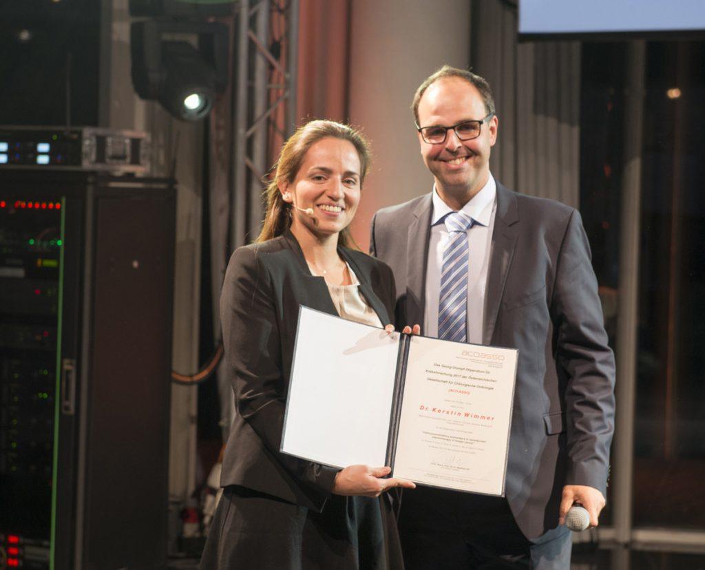 Dr.Kerstin Wimmer und der ACO-ASSO Präsident Prim. Assoz.Prof. PD Dr. Matthias Zitt